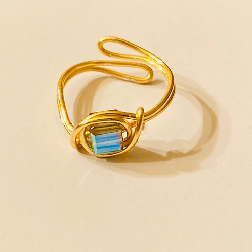 Blue Golden Shimmer