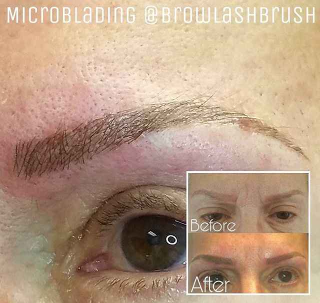 I got to do some some color correcting and microblading for this awesome lady at _letstalkmakeupspa