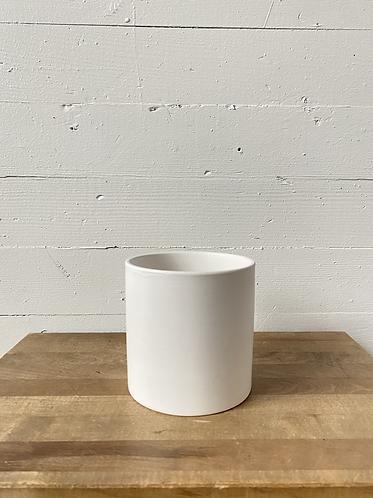 "4"" Matte White Ceramic Cylinder"