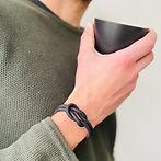 Handgemaakte sieraden - Armband van kurkleer voor heren