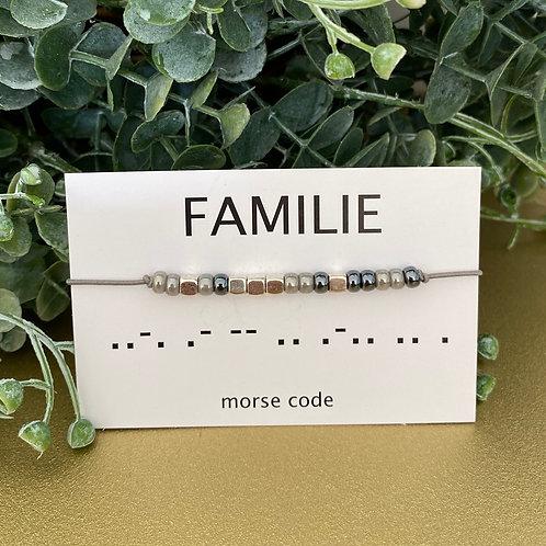 Morse armband 'familie'