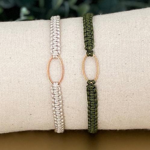 Macramé armbandjes met tussenstuk