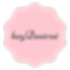 pink and white scalloped logo with heyDesireé brand name in the middle