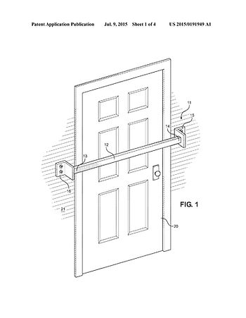 Door Barricade patent by 21stCIP