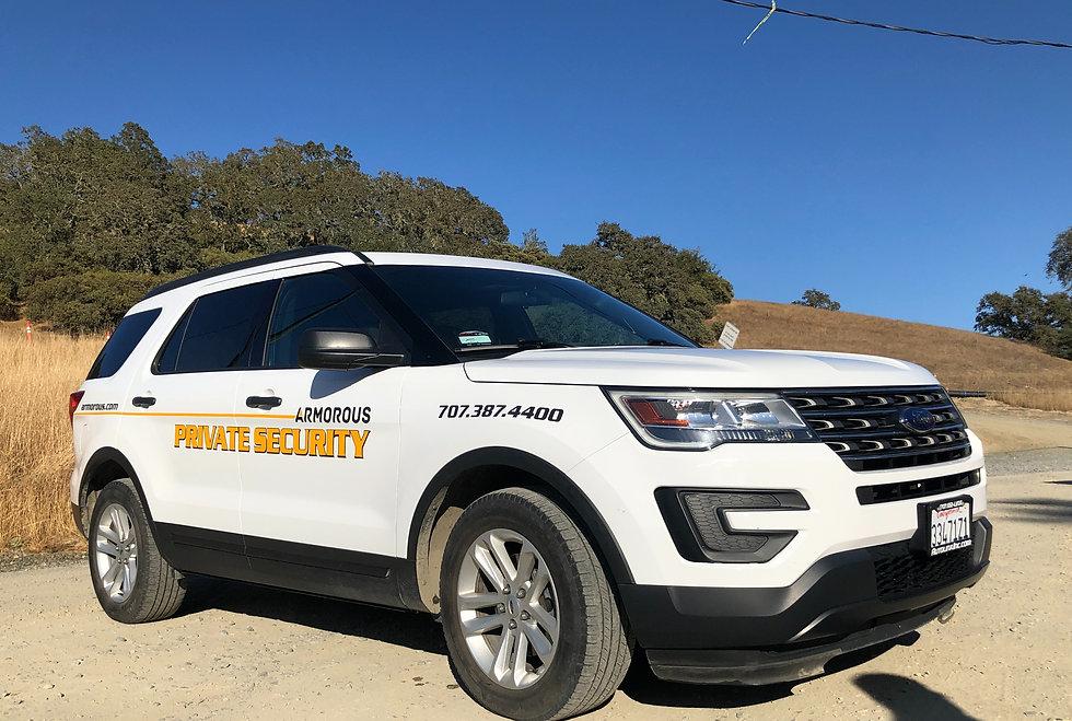 Armorous Security on site vehicle patrols
