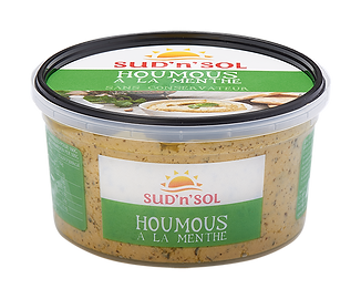 Houmous with mint