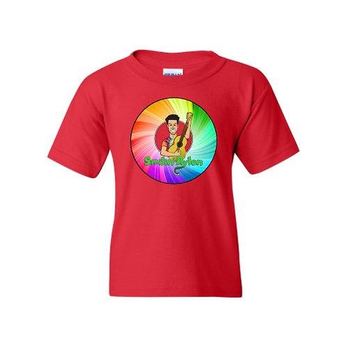 T-Shirt - Rainbow Wheel - Red