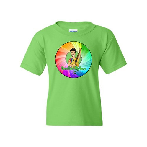T-Shirt - Rainbow Wheel - Green