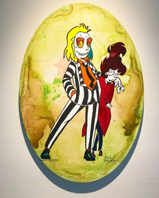 'BEETLEJUICE & LYDIADEETZ' currently showing at ROAM Gallery / Sarnis, On.