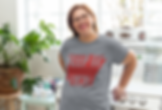 mockup-of-a-woman-wearing-a-heathered-t-