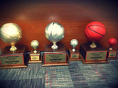 Team Camp Basketball Trophies