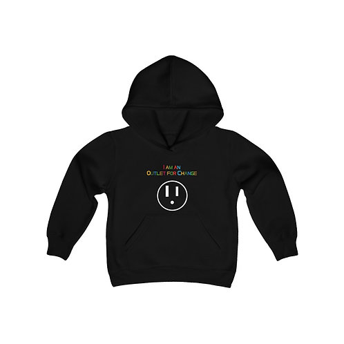 I am an Outlet for Change Youth Heavy Blend Hooded Sweatshirt