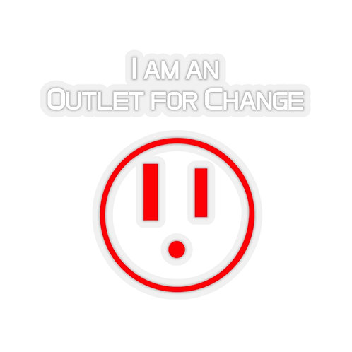 I am an Outlet for Change Kiss-Cut Stickers