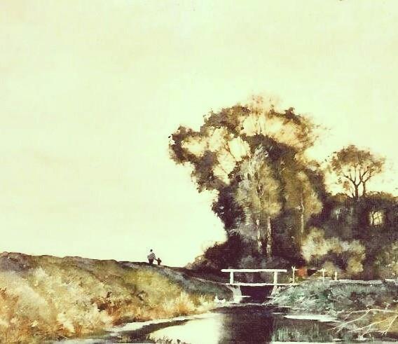 Detail 'wandelen op de dijk'