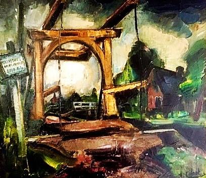 Detail 'Ophaalbrug bij Kortenhoef'