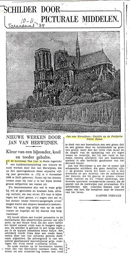 Artikel Telegraaf Jan van Herwijnen