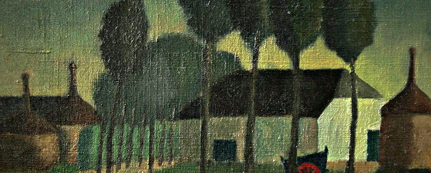 Detail 'De boer op weg naar zijn boerderij'