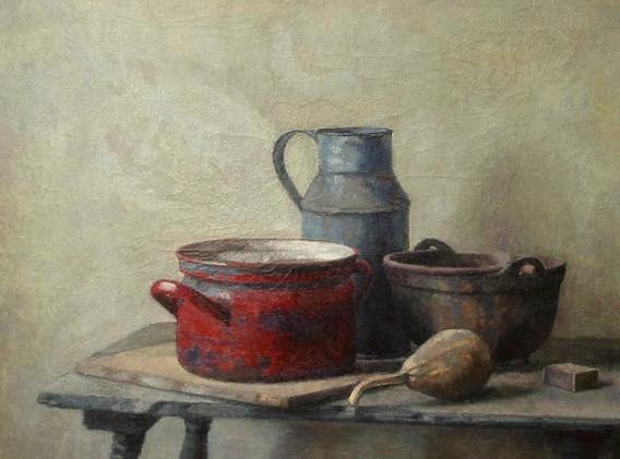 Detail 'Stilleven met rode pan'