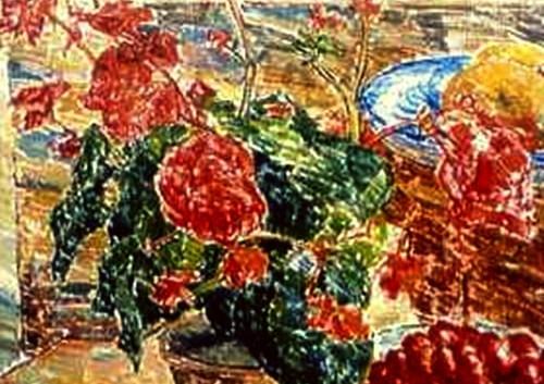 Detail 'Stilleven met kersen en appels'