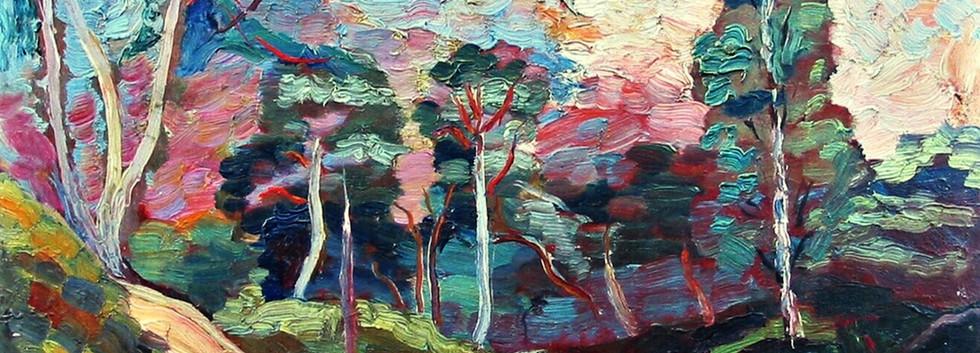 Detail 'Duinlandschap met bossen'