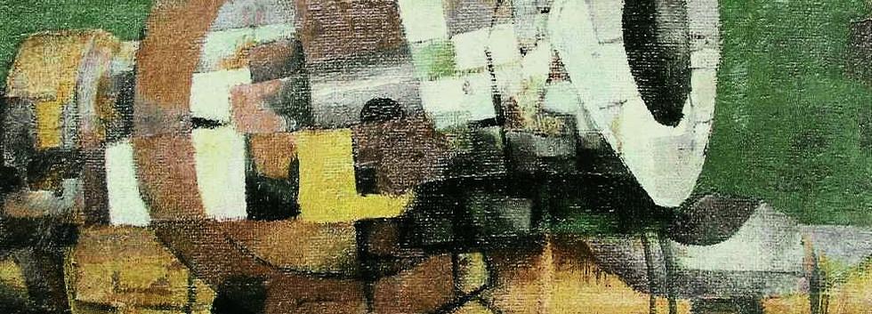 Detail 'Saxofoon in landschap'