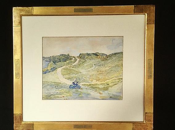 'Walcherens boerinnetje in de duinen'