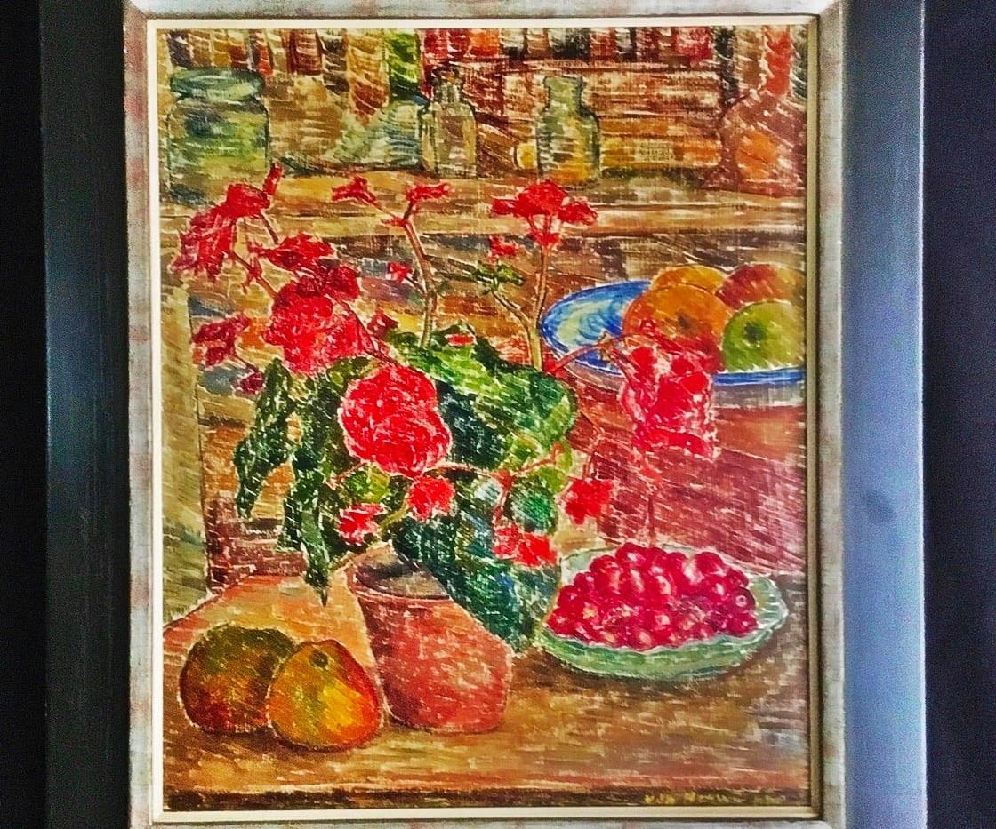 'Stilleven met kersen en appels'