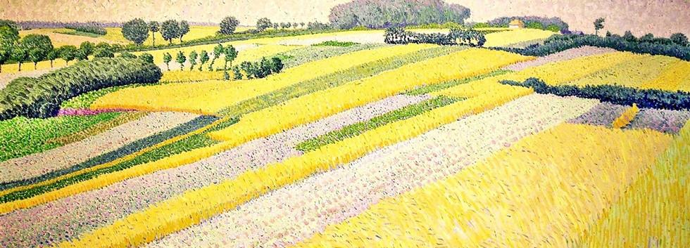 Detail 'De korenvelden bij Blaricum'
