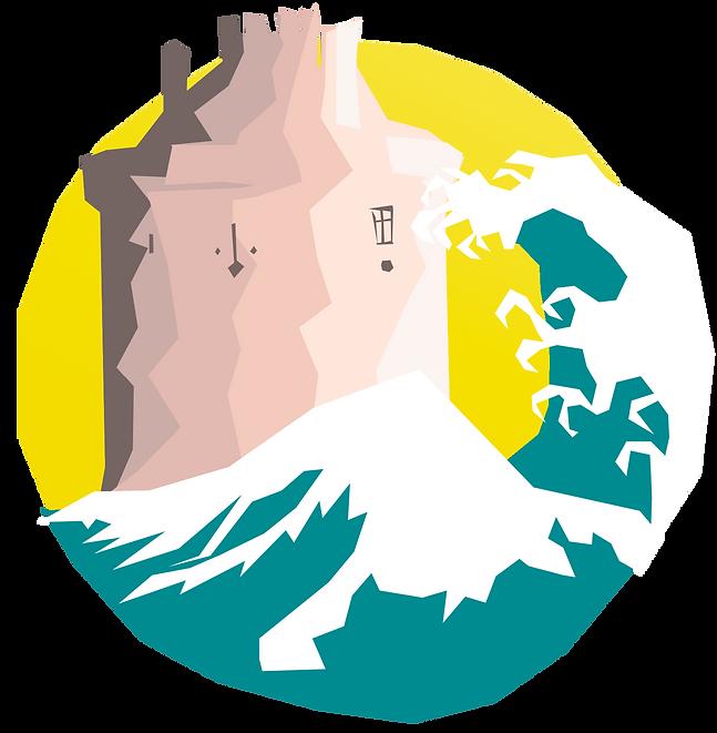 logo chateau de la roche goyon fort la latte la vague