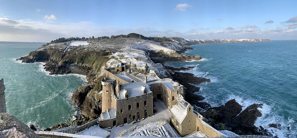 Le château de la Roche Goyon le 10 Févri