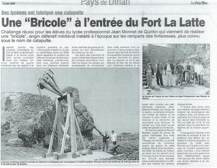 presse_Juin_2007_arrivée_de_la_Bricole_a