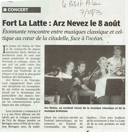 article presse fort la latte La Roche Goyon