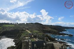 vue du donjon sur la parc du fort