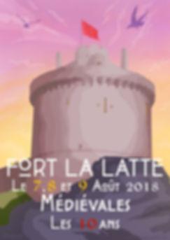 affiche minimalist fort la latte roche goyon donjon les mdiévales le 7, 8 et 9 Août 2018