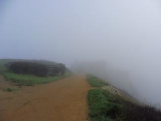 La brume au château de La Roche Goyon