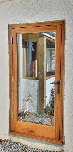 Iroko Door with Euro Lock