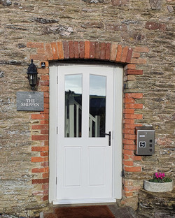 Hardwood Richmond Style Door with Triple Glazing