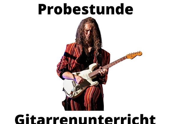 PROBESTUNDE Gitarrenunterricht