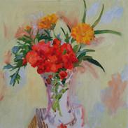 Geraniums, Calendula, Parsley