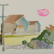 Illawarra Collage IV 2018, watercolour on cottonrag 28x38cm