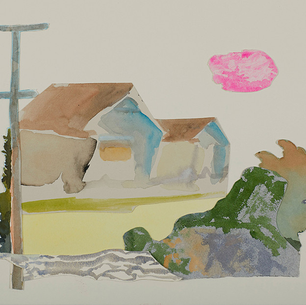 Illawarra Collage IV 2018, watercolour on cottonrag 28x38cm