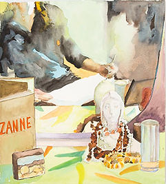 Zuza Zochowski Self Portrait 2013 Watercolour on Cotton Rag