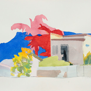 Illawarra Collage II 2018, watercolour on cottonrag 28x38cm