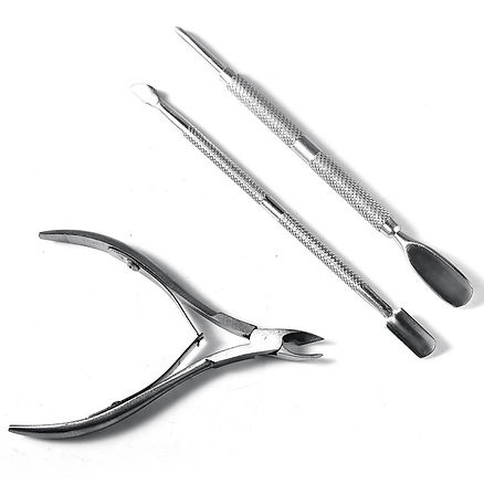 new-3pcs-set-Nail-Scissor-Nail-Cuticle-Pusher-Spoon-Stainless-Steel-Dead-Skin-Remover-Cutter-Nipper.