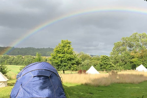 Yoga Glamp -  5m bell tent, Choose Single or Twin/Double (Aug)