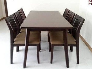 Chia sẻ kinh nghiệm chọn bàn ăn chung cư cho gia đình 6 người