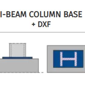I-BEAM COLUMN BASE connection+DXF