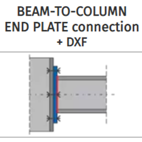 BEAM-TO-COLUMN END PLATE connection+DXF