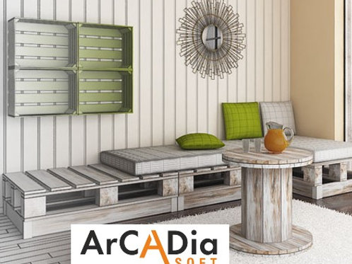 ArCADia-PALLET FURNITURE Library