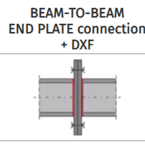 BEAM-TO-BEAM END PLATE connection+DXF
